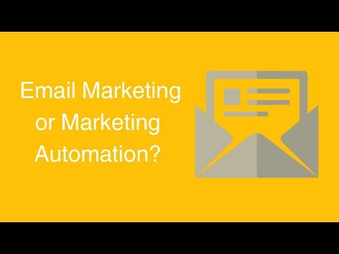 Watch 'Choosing Email Marketing or Marketing Automation '
