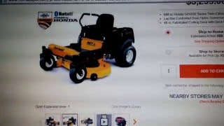 2. CUB CADET RZT-L 46IN ZERO TURN WITH HONDA ENGINE PREVIEW
