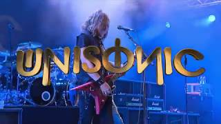 """UNISONIC TO RELEASE """"LIVE IN WACKEN"""" ON JULY 21st VIA earMUSICPre-order here:CD+DVD: http://smarturl.it/Unisonic_Live_CD_DVDiTunes: http://smarturl.it/Unisonic_Live_iTunes With their 2012 self-titled debut album Unisonic unleashed a storm of enthusiasm. For the first time in 23 years, the two former members of Hamburg's metal institution Helloween - Michael Kiske and Kai Hansen – reunited to play in the same band.  More than a few metal fans might have shed a tear. After the successful follow-up album 'Light Of Dawn' (2014) a worldwide tour followed with memorable gigs in South America, Europe and Japan until Unisonic, still at full speed, brought their energy to the small village of Wacken where one of the biggest and most spectacular metal festivals in the world takes place every year.The international all-star act consisting of Michael Kiske (Helloween) on vocals, Kai Hansen (Helloween, GammaRay) on guitars, Mandy Meyer (ex. Asia, ex. Gotthard, Krokus) on guitars, Dennis Ward (Pink Cream 69 and successful producer of many top class hard rock acts) on bass guitar and Kosta Zafiriou (ex-Pink Cream 69) on drums entered the stage at last year's Wacken festival and made the night ablaze with glorious metal. For the band it was a remarkable experience.On stage the band showed their class and diversity; their sound is spiked with remarkable riffs and guitar solos, thundering grooves, classic metal hymns and hooks other bands would be dying to write. And on top the anthemic vocals of Kiske, whose """"out-of-this-world"""" voice is so extraordinary and strong, he is often mentioned in the same breath with Bruce Dickinson, Rob Halford and Geoff Tate.Like the studio albums, 'Live in Wacken' was mixed and mastered by the band's own Dennis Ward. This show was a very special occasion for the whole band, but possibly it was """"the show of the life"""" for one band member… Kosta Zafiriou had in fact decided to focus only on the management side and to leave his drummer seat forever, after a"""
