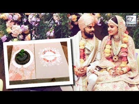 Anushka & Virat's UNIQUE Wedding Card Will Melt Your Hearts! | LehrenTV (видео)