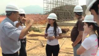 Visita dos alunos da UERJ às obras de implantação do Arco Metropolitano