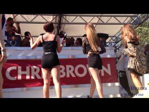 Chris Brown Interrupts Korean Girl Group