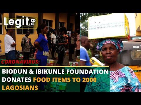 Coronavirus: 2000 Lagosians get free food items from Biodun & Ibikunle Foundation| Legit TV