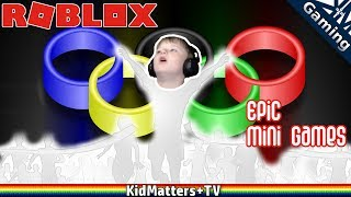 """New computer setup, Tragen is back to gaming with a Roblox Epic Minigames Adventure. The thrill of victory and the agony of defeat. Can we guess this is why Roblox is popular? ;)Let's play Roblox Epic MinigamesPrevious ROBLOX Video▶︎ https://www.youtube.com/watch?v=XCU2TxiryAA&list=PLoGP4ZDuz55wkJO8KIVGWn2W3PBlDmKpH&index=2ROBLOX Playlist▶︎ https://www.youtube.com/watch?v=XCU2TxiryAA&list=PLoGP4ZDuz55wkJO8KIVGWn2W3PBlDmKpHAll Gaming videos playlist▶︎https://www.youtube.com/watch?v=PVmm3qh-Cp4&list=PLoGP4ZDuz55yB7UnR0PN3pS1Tw1GnR2vMThanks for Watching another fun family friendly video (kid gaming). See you in the next video!Subscribe for more, it's FREE! And Never Miss a video by Hitting that Bell Icon!▶︎https://www.youtube.com/channel/UCkpFfjCLRUX9E62zJ1-r4Gg?sub_confirmation=1Watch More, from our other Playlists:▶︎All of our Videos: https://www.youtube.com/watch?v=4E2cWLOC2dw&list=PLoGP4ZDuz55xoJH1gH43uXZI-Sfh3PEKC▶︎All LEGO videos: https://www.youtube.com/watch?v=KqbvsQJvf84&list=PLoGP4ZDuz55yscyKKZBNewnsXimqk6AzG▶︎Parks&Recreation: https://www.youtube.com/watch?v=Kg9RFYsKasY&list=PLoGP4ZDuz55wbH7DnaTgQnLKecpDG6AU9▶︎Cooking: https://www.youtube.com/watch?v=b-E5-OvouUI&list=PLoGP4ZDuz55yeLYlG-vigbgrMWaWEr2pi▶︎Crafts: https://www.youtube.com/watch?v=nF2-3Tga7Ec&list=PLoGP4ZDuz55yElwbu0g_2Nt-m77JN5Ban▶︎Reviews: https://www.youtube.com/watch?v=dPDhgmQ2rco&list=PLoGP4ZDuz55zP5Gdy9GGKfk3L5mR0H_reFollow Us On Social Media:▶︎Twitter: https://twitter.com/KidMatters_TV▶︎Facebook: https://www.facebook.com/kidmatterstv/▶︎Instagram: https://www.instagram.com/kidmatters_tv/About Roblox:Roblox.com:""""WHAT IS ROBLOX?ROBLOX is the best place to Imagine with Friends™. With the largest user-generated online gaming platform, and over 15 million games created by users, ROBLOX is the #1 gaming site for kids and teens (comScore). Every day, virtual explorers come to ROBLOX to create adventures, play games, role play, and learn with their friends in a family-friendly, immersive, 3D environ"""