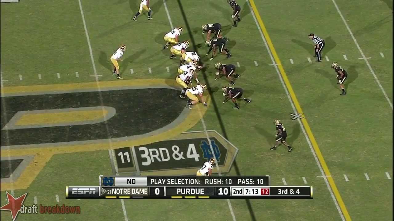 Zack Martin vs Purdue (2013)