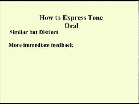 ENG 352 Technisches Schreiben - 23 - Tone