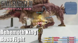 Final Fantasy XII The Zodiac Age - Behemoth King Boss Fight (PS4). One of the final Mobhunts, only gets bested by Yiazmat, Omega Weapon and Hell Wyrm. If you see your copyright infringed by this Video, tell me and I will take down the video immediately. No need to strike my channelSupport: https://youtube.streamlabs.com/meloo#/or https://www.patreon.com/Meloo