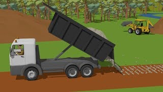 Video #Truck and Excavator, Dump Truck and Roller Truck | Trucks Street Vehicles | Maszyny Budowlane MP3, 3GP, MP4, WEBM, AVI, FLV Juni 2018
