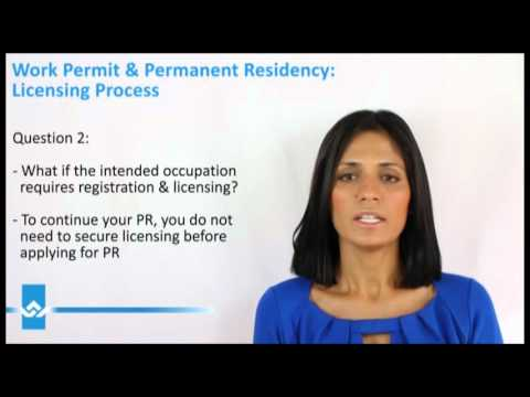 Canada Work Permit Licensing Process Video