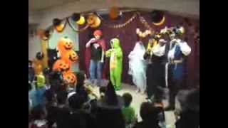 """Knock Knock, Trick Or Treat?"" is a great song for talking about Halloween costumes. From Super Simple Learning."