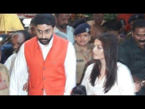 Aishwarya Rai And Abhishek Bachchan Visit Siddhivi