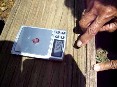 Large Rhodolite Garnet from Cherokee Ruby Mine