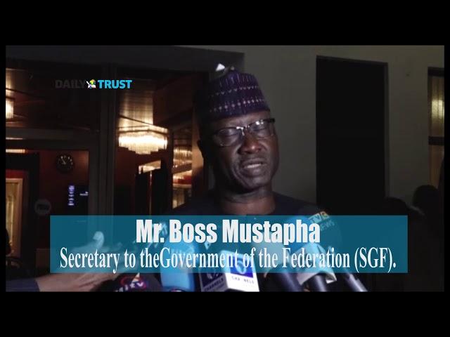 SGF Boss Mustapha talks on President Buhari's meeting with NASS leaders