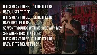 Bebe Rexha - Meant to Be - feat. Florida Georgia Line - Lyrics