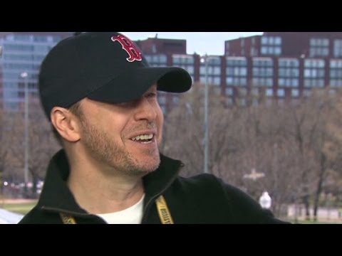 boston - Boston native Donnie Wahlberg celebrates this year's Boston Marathon supporting his brother and friends who ran the race. More from CNN at http://www.cnn.com...
