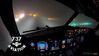 Video 4K ILS Cat II  - Boeing 737 night landing in dense winter fog MP3, 3GP, MP4, WEBM, AVI, FLV Desember 2018