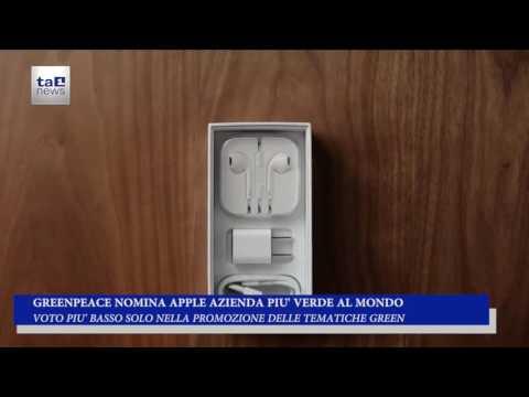 GREENPEACE NOMINA APPLE AZIENDA PIU' VERDE AL MONDO