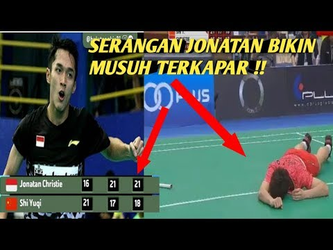 Download Video Aksi Jonatan Bikin SHI Yuqi Terkapar Di Final Badminton Asia Team Championship 2018
