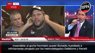 Video IMPERDIBLE: Feinmann fue domado, humillado e infinitamente ultrajado por los metrodelegados MP3, 3GP, MP4, WEBM, AVI, FLV Juni 2018
