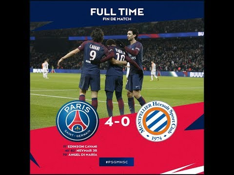 PSG vs Montpellier 4 0   All Goals & Highlights   27:01:2018