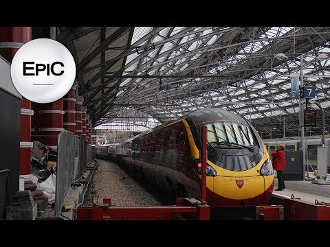 On Train: From Manchester Piccadilly To Liverpool Lime Street - England (HD)