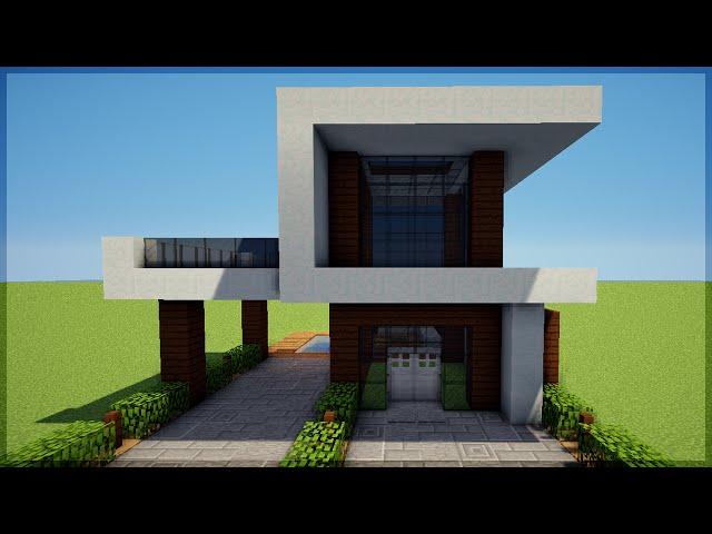 Minecraft construindo uma pequena casa moderna 5 for Casa moderna minecraft design