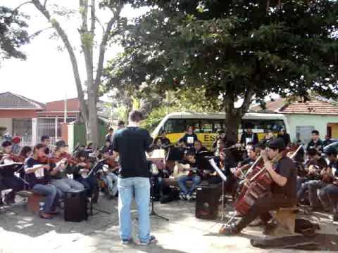 Apresentação da Camerata / Orquestra Jovem de Pindamonhangaba em Silveiras-SP