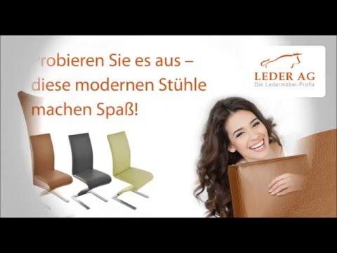 Echtleder Freischwinger Stühle online kaufen bei Leder AG