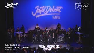 Slim Boogie – Juste Debout Geneva 2020 POPPING JUDGE DEMO