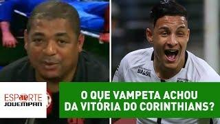 Comentarista Vampeta, da Rádio Jovem Pan, analisou a vitória do Corinthians sobre o Palmeiras por 2 a 0, no Allianz Parque.