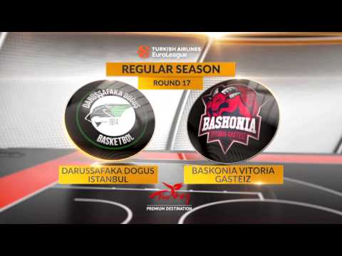 EuroLeague Highlights RS Round 17: Darussafaka Dogus Istanbul 98-89 Baskonia Vitoria Gasteiz