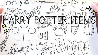 Harry Potter Item Doodles | Doodle with Me