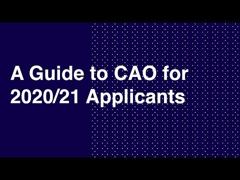 A Guide to CAO for 2020/21 Applicants