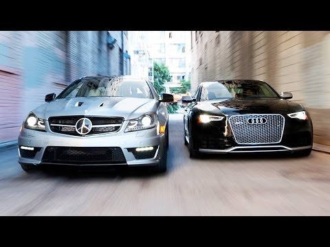 supercar - audi rs5 vs mercedes benz c63 507 coupe