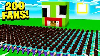 Video 200 FANS FOUND MY SECRET MINECRAFT BASE! MP3, 3GP, MP4, WEBM, AVI, FLV Juli 2019