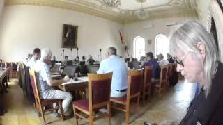 Dňa 18.6.2015 sa uskutočnilo zasadanie Mestského zastupiteľstva v Komárne - hlavý bod rokovania: Vodárenská spoločnosť...