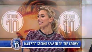 Video Vanessa Kirby Talks Princess Margaret & 'The Crown' | Studio 10 MP3, 3GP, MP4, WEBM, AVI, FLV Oktober 2018