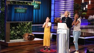 Video Ellen Puts the Students in Charge for 'You Bet Your Teacher' MP3, 3GP, MP4, WEBM, AVI, FLV Juni 2018