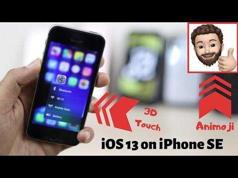 iOS 13 on iPhone SE | 3D Touch & animoji
