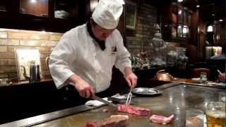 Hyogo Japan  city images : Real Kobe beef teppanyaki Steak Land restaurant Kobe, Hyogo, Japan