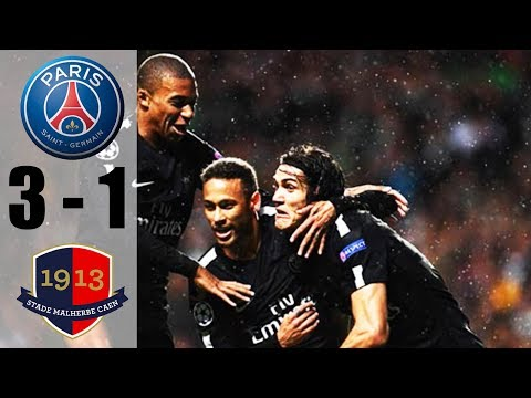 PSG vs Caen 3-1 (All Goals & Highlights) 21/12/2017