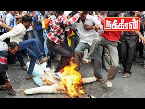 Jayalalitha-effigy-burnt-in-Karnataka-Cauvery-Water-Dispute