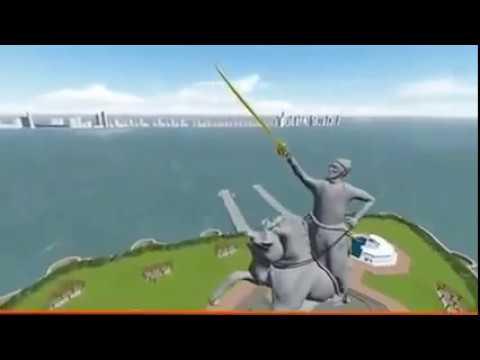 Video Shivaji maharaj memorial statue in mumbai animated walkthrough download in MP3, 3GP, MP4, WEBM, AVI, FLV January 2017