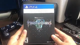 Unboxing Kingdom Hearts 3 Deluxe Edition PS4