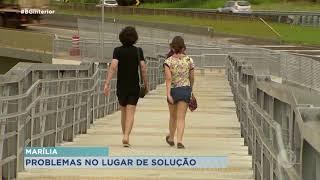 Falta asfalto para acesso a passarela no Jardim Cavalari em Marília