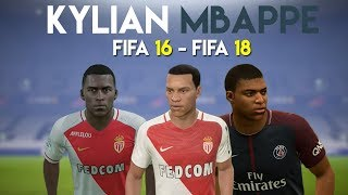 Kylian Mbappe | FIFA 16 - FIFA 18 (Ingame Face, Skills, Stats, Shots, Passes, Goals, etc)