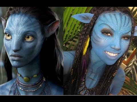 Neytiri Inspired Halloween Makeup