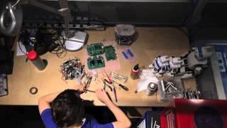 Soccer robot repair timelapse