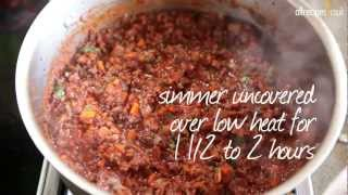 Meat sauce for lasagne