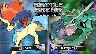 Pokemon TCG Matchup - Keldeo vs Rayquaza Battle Arena Decks! | Professor K vs N! by The Pokémon Evolutionaries